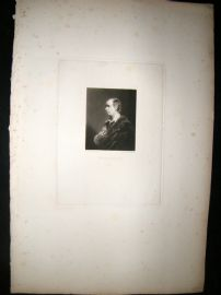 After Joshua Reynolds C1830 Folio Mezzotint. Oliver Goldsmith